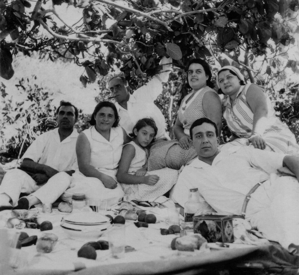 Picnic Under the Loquat Tree - circa 1920's
