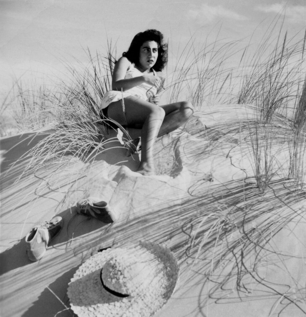 Helena, Hat and Sneakers - Praia da Rocha, Algarve, 1943