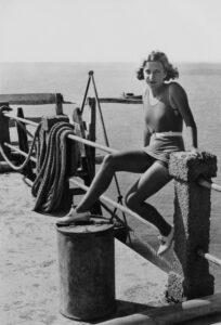 Valentina on the Dock, Porto Santo, Madeira, 1934